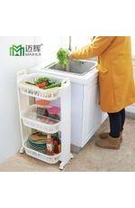 家居百货塑料收纳篮蔬菜储物架移动厨房收纳筐