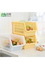 日式家居收纳塑料叠加果蔬收纳筐A款水果储放可多层叠加筐