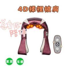 加热4D仿真人按摩披肩揉捏捶打颈椎按摩神器老人按摩器
