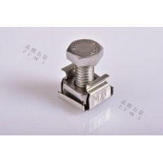 齐发娱乐官方网站_不锈钢浮动卡式螺母配柜笼式304 M6-4896A