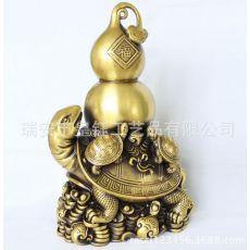 铜器批发 精美铜器 龙龟葫芦 吸财纳福
