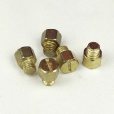 水泵螺丝 Q235 镀铜 一字槽六角大头螺丝 4.8级 M10 非标紧固件