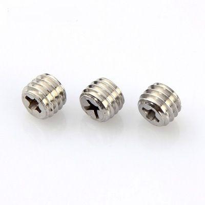 不锈钢 十字圆孔紧定螺钉/十字平端螺丝/无脑螺钉m8*7