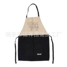 韩版日式咖啡店鲜花店奶茶店美甲店促销广告工作服全棉围裙