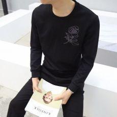 圆领男卫衣 春季韩版潮流刺绣外套修身青少年学生套头衫情侣长袖