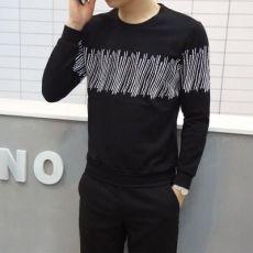 春季断码处理卫衣男 韩版潮学生黑色修身圆领打底长袖T恤