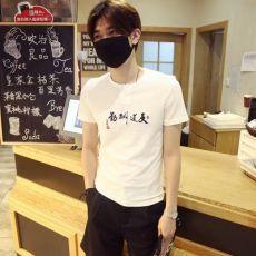 中国风t恤男刺绣印花纯棉打底衫圆领体恤休闲夏天潮男短袖男式T恤