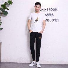 夏季运动套装男韩版休闲两件套青年短袖长裤男士短袖T