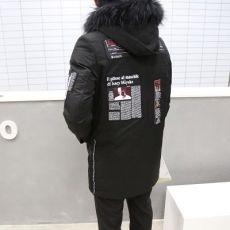 冬季中长款连帽风衣棉衣服男士加大码棉袄子韩版潮男外套潮男装