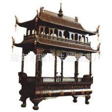 3米二层纯铜长方形香炉 寺庙铁香炉