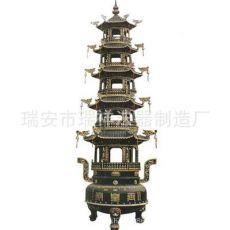 五层铁宝鼎 铸铁长方香炉