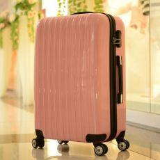 纯色拉杆旅行箱pc万向轮学生行李箱