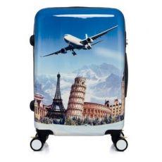 qile600_飞机涂鸦旅行箱登机箱时尚万向轮情侣拉杆箱静音镜面学生拉杆箱
