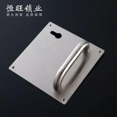 不锈钢门锁弯管系列102*170*170方板 创意卫浴面板锁