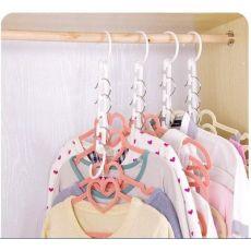 五孔魔术衣架 五孔挂架 多功能衣架 晾衣收纳整理