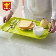 ABS长方形彩色餐盘 塑料托盘 果盘 快餐托盘 碗盘 防滑茶水盘