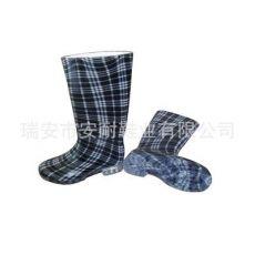 雨靴雨鞋透明印花雨鞋