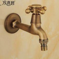 全铜仿古洗衣机水龙头欧式复古单冷4分通用拖把池水龙头
