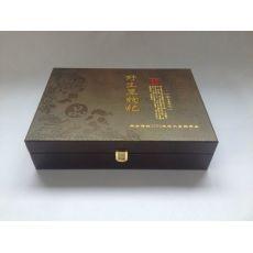 野生黑枸杞补品皮制盒高档木制礼盒