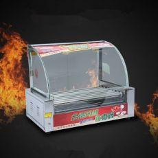 7管烤肠机 热狗机 双控温不锈钢七管 烤香肠机