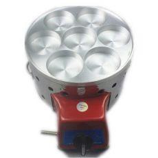 7孔燃气鸡蛋汉堡炉 煤气七孔鸡蛋饼汉堡 红豆饼机