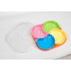 塑料四色果盘 瓜果盘 彩色盘子