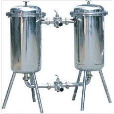 不锈钢双联过滤器 果汁糖液蜂蜜酱醋冰淇淋油分离杂质过滤机
