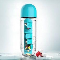 药盒杯 创意水杯带七日便携药盒二合一 户外携现便水瓶
