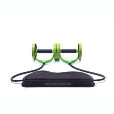 双轮拉力器 多功能拉力器瑜伽拉力绳健腹轮塑健身健腹器