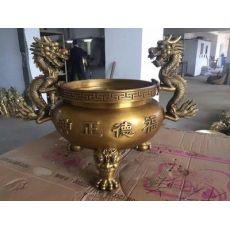 寺庙道观祠堂铜铁圆形无盖平口香炉