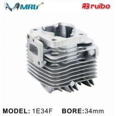 割草机配件汽缸/气缸 1E34F/TU26/CG260 34MM 园林机械配件