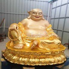 齐发娱乐官方网站_树脂佛像寺庙玻璃钢佛像贴金彩绘方台弥勒佛大肚佛 铜坐佛像
