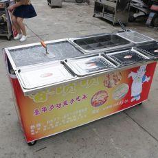 商用多功能早餐车扒炉油炸一体机烧烤铁板麻辣小吃车