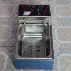 单缸双筛燃气小吃设备炸炉高品质单缸双筛燃气油炸烘焙设备