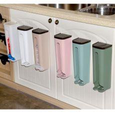 厨房卫生间垃圾袋收纳盒 塑料袋购物袋收纳盒壁挂式收纳架置物架