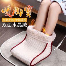插电式电热暖脚垫暖脚宝 高帮邦电暖鞋 办公室寝室加热脚垫暖脚器