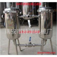 不锈钢双联过滤器果汁糖浆饮料酒类双桶式滤网式卫生食品级过滤机