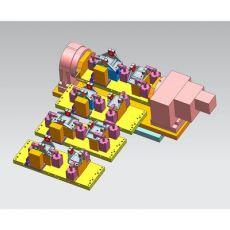 齐发娱乐官方网站_工装夹具 四轴模块化液压夹具 汽车固定盘零部件