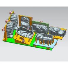 油底壳汽动夹具 油底壳卧加液压夹具非标工装夹具