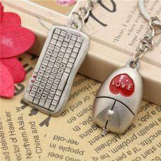 迷你鼠标键盘情侣钥匙圈 钥匙链挂件