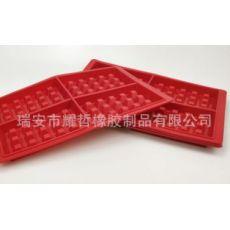 硅胶方形华夫饼模具 蛋糕模 烤箱用4连华饼模waffle格子饼硅胶模