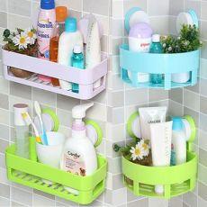 双吸盘浴室厨房创意置物架 免打孔卫生间吸壁式