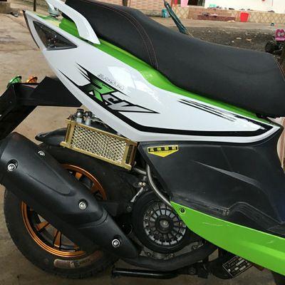125鬼火摩托车改装配件福喜gy6发动机巧格迅鹰踏板车散热器油冷器