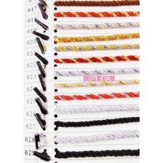 38cm长 5.0mm粗 涤纶三股绳 带绳线 手提绳 带子 绳子