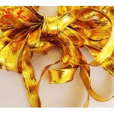 扁金丝金色扁绳服装装饰辅料玩具跳舞衣圣诞礼品金织带走马带
