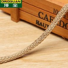 编织包芯线礼盒提手金色土黄棕色家纺服装用绳