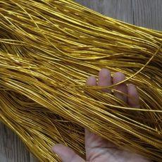 织带金线弹力绳1.5mm国产金色假发橡筋松紧带弹力绳 圣诞礼品