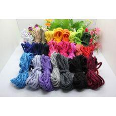 5MM彩色全棉红黄蓝绿黑紫粉色八股棉绳束口环保捆绑绳子荧光绳