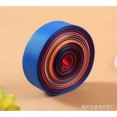 多色三顶织带 涤纶螺纹横纹发饰材料礼品鲜花包边带
