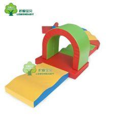 亲子园软体攀爬组合幼儿园软体钻洞组合儿童滑梯组合软体玩具爬滑